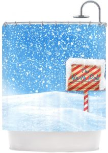 Kess InHouse Snap Studio North Pole Snow Shower Curtain 69 By 70 Inch