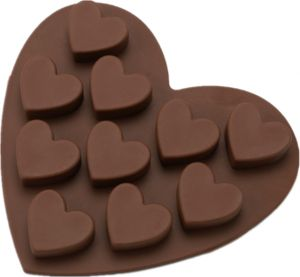 Chocolate Candy Making Molds,DIY Heart Shape Silicon Chocolate Mini Cake Jelly Handmade Soap Making Mold,Baking Cupcake Model for Kintchen Cake Room-10 ...