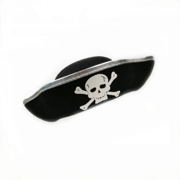 fc019aa562e Skull Hat Caribbean Pirate Hat Skull Piracy Cap Corsair Cap Party Supplies  Costume Halloween Accessories Fancy Dress Party-Silver