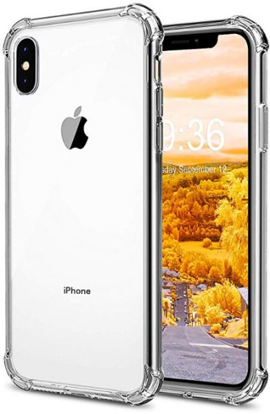 best service 14962 fac68 iPhone XS Max Case, Crystal Clear Cover Slim Airbag Protective Cover with  Reinforced Corner Bumpers Flexible Soft TPU Anti-Scratch Case for Apple ...