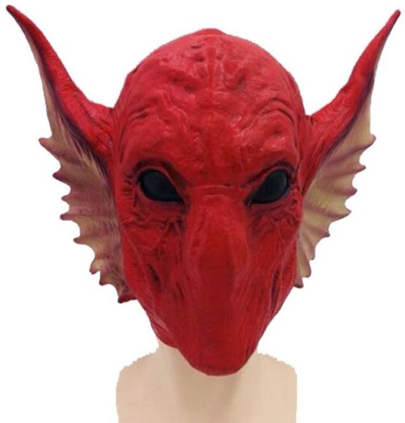 Guardians of the Galaxy Novelty Halloween Costume Party Latex Red Snake  Alien Head Mask