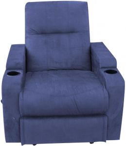 Fantastic Cinema Recliner Chair Full Push Back Blue Color Machost Co Dining Chair Design Ideas Machostcouk