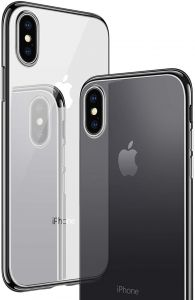 Apple iPhone xs MAX cover/case, magnet with aluminium metal housing bumper case,99.9 percent crystal clear, 9H tempered glass back case, black