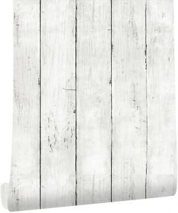 Haokhome Wood Plank Wallpaper Off White