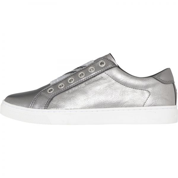 fb1766a45ba5 Tommy Hilfiger Silver Fashion Sneakers For Women