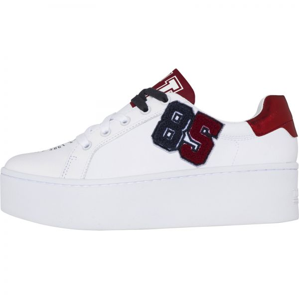 7dbe09ce0f4f61 Tommy Hilfiger White Fashion Sneakers For Women