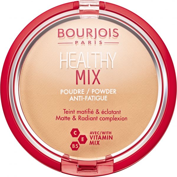 Bourjois Healthy Mix Face Powder Anti-Fatigue, 02 Light Beige - 11 gm