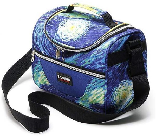 SANNE Lunch Box Bag Thin Size Thermal Insulated Breastmilk Cooler Tote Bag Leakproof with Adjustable Strap Zipper Go Work Travel Shool Picnic for Men Boy Girls Holiday | السعودية | سوق