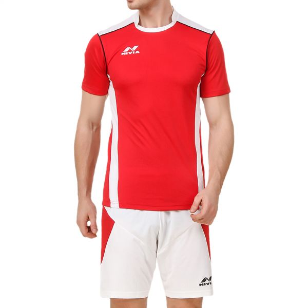 Nivia Radar Football Jersey Set for Men - Red and White bc4b03493