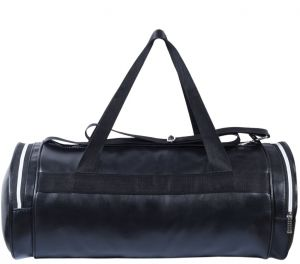 Dee Mannequin Fitness Black Leather Rite Gym Bag For Men 16234bbc10091