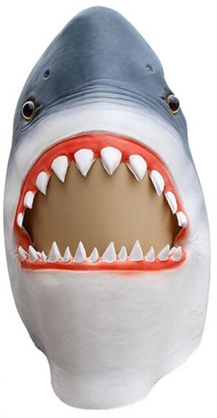 Shark Mask Latex Head Set Men's Fancy Party Party Halloween Photography  Party Props