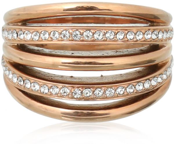 Milano Stainless Steel Ring.Ferre Milano Fashion Ring For Women Rose Gold Souq Egypt