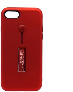 cheap for discount bd7b4 f6a96 Back Cover By Ineix Hand Holder For Apple iPhone 7 / iPhone 8 - Red