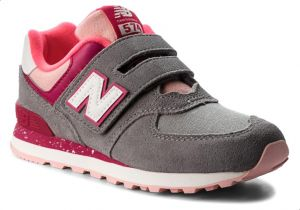 17409f0dcf327 New Balance NB-574 Training Sneakers For Girls - Grey Pink   Souq ...