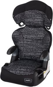 Evenflo Big Kid AMP High Back Booster Car Seat Static Black