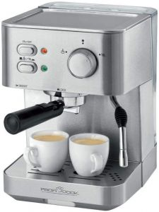 Proficook Germany ES 1109 Espresso Coffee Latte Machine, 1.5 Litre, 1050 W, Stainless Steel