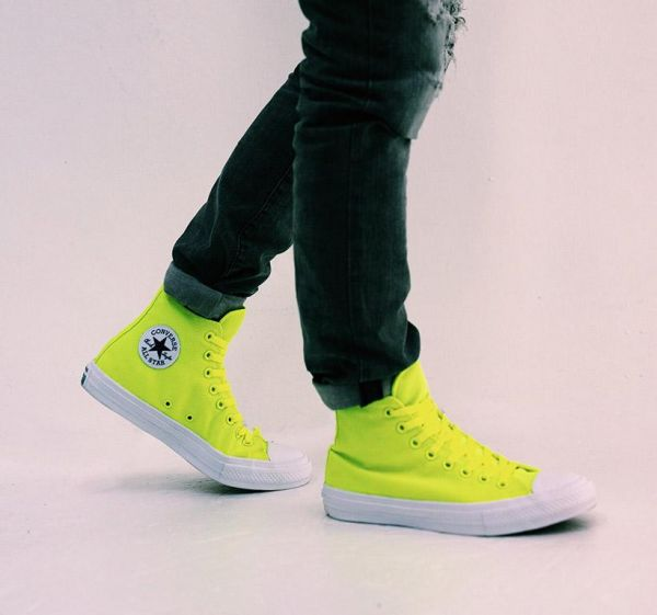 8b3912184e10c5 Converse Neon Yellow Lace Up Shoes For Unisex