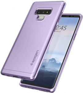 Samsung Galaxy Note 9 Case Cover , Spigen , Slim Full Protection , Tempered Glass Screen Protector , Lavender