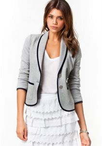 b7e1d1403578 Europe and the United States fall female Slim thin short paragraph lapel small  suit women s jacket