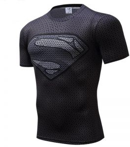 83e7feb45dc5 3D DC Series T-shirt Black Superman Men s Short Sleeve Tights Sports Jersey  Prints Skinny Sports Fashion Bodybuilding T-Shirt