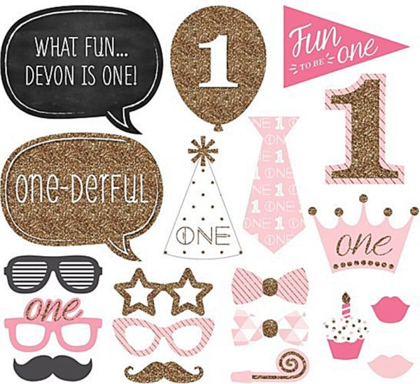 Photo Booth Baby Girl Boy Shower Birthday Party Photo Booth Props
