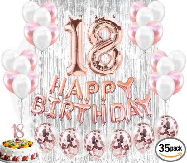 18th Birthday Decorations Party Supplies 18 Ca