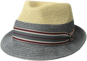 8aa08a13696 Bailey of Hollywood Men s Rokit Braided Fedora Trilby Hat with Stripe Band