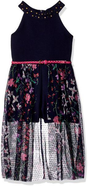 Beautees Girls Big Lace Halter with Skirt