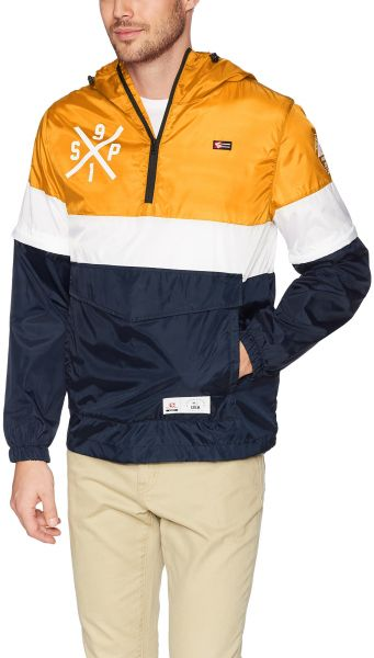 dec1137e9a Southpole Men s Anorak Colorblock Water Resistance Hooded Pullover ...
