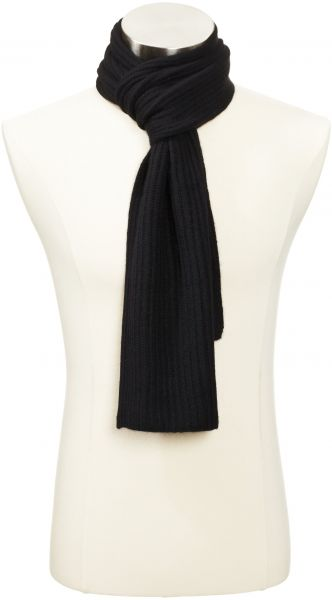 Williams Cashmere Mens Cashmere Solid Knit Scarf