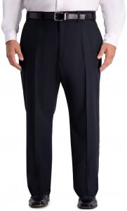 4c11a0aaaea Haggar Men s Big and Tall B T Active Series Stretch Classic Fit Suit  Separate Pant