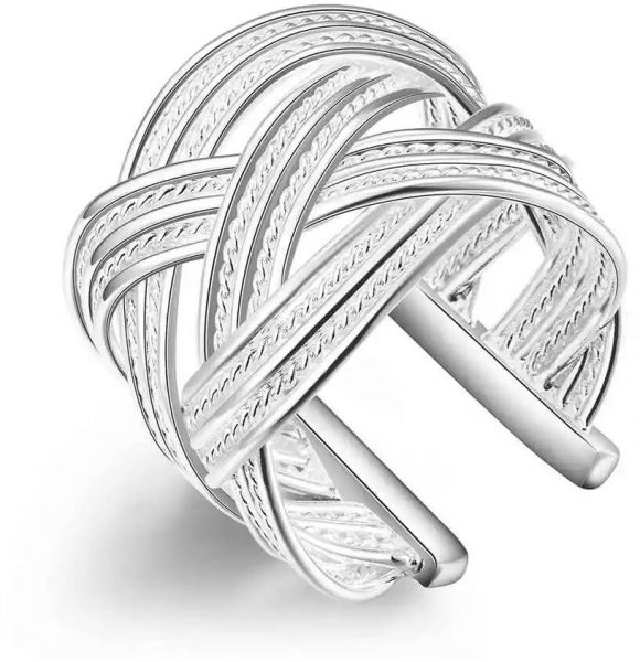 Women's ring with 925 Silver Plated - Resizable
