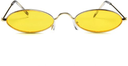 24c618b387 Vintage Oval Sunglasses Small Metal Frames Designer Gothic Glasses Yellow.  by Other