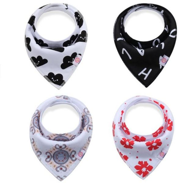 Bibs & Burp Cloths Baby Bandana Drool Bibs For Drooling And Teething 4 Pack Gift Set For Girls And Boys
