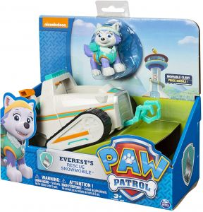 Paw Patrol Everests Rescue Snowmobile Vehicle And Figure