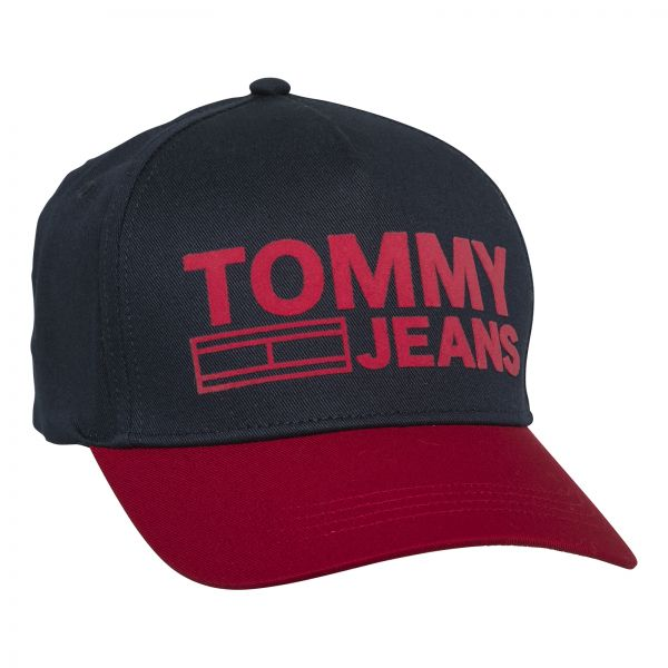 Tommy Hilfiger Unisex Baseball Cap - Black and Red  3f60be6efa1