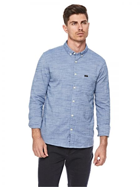3768cbf60c Lee Slim Button Down Shirt for Men - Beyond Blue