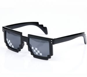 82e07d977da Sunglasses 8 Bit MLG Pixelated Sun Glasses Thug Life Party Eyeglasses  Mosaic Vintage Eyewear For Men Women XIAO