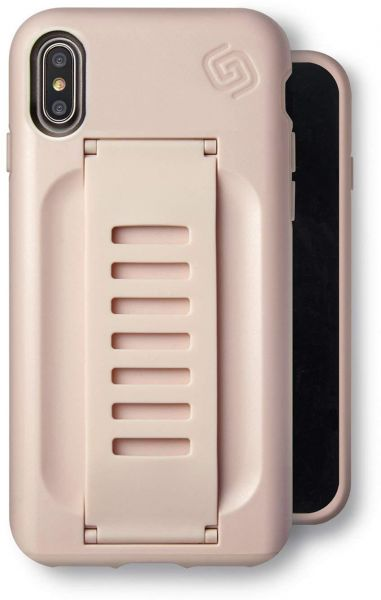 sneakers for cheap 80a28 0efc7 iPhone X/XS Slate Phone Case Grip2U GettaGrip BOOST Enhanced Protection  GRIP CASE Slim iPhone Protection Cover with Grip for Apple iPhone X/XS PINK