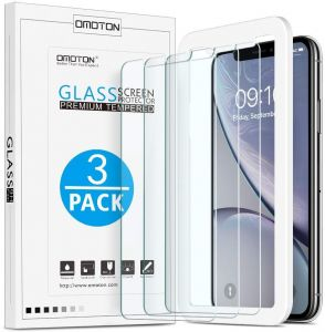 ... Pack],OMOTON Tempered Glass Screen Protector with [Easy Install Tool] [ 9H Hardness][Anti-Scratching][Anti-Oil][Anti-Bubbles][2.5D Round Edge]