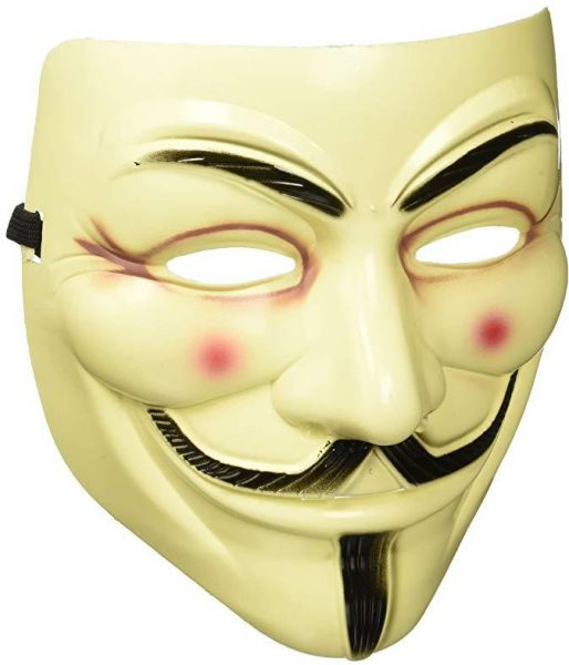 1 Pc Guy Fawkes V For Vendetta Mask Fancy Cosplay Costume Yellow