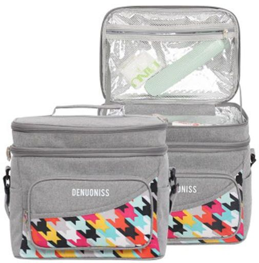 Lunch Bag Box Sets Thermal Insulated Daily Portable Food Fresh Keep Big Container Picnic Cooler Bags Upgraded Reusable Leakproof Large Capacity Cooler Bag for School/Work/Picnic/Travel