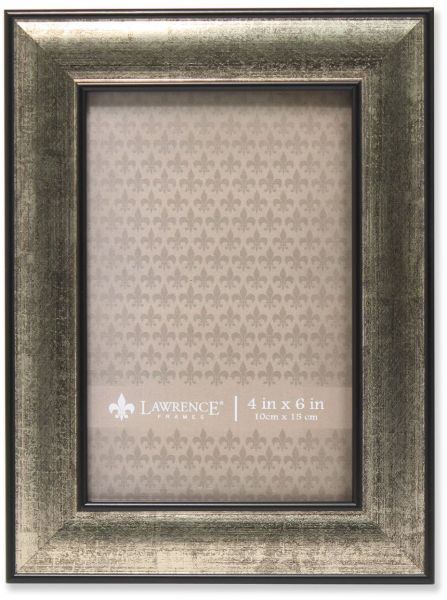 Lawrence Frames Domed Burnished Picture Frame, 4 by 6-Inch, Silver ...