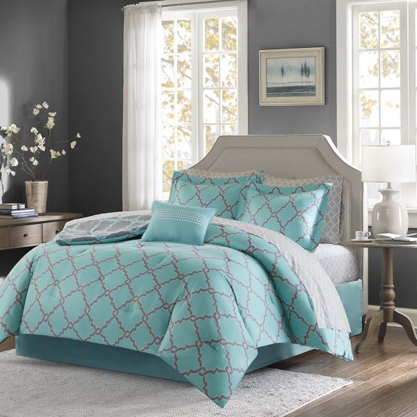 Madison Park Essentials Merritt Twin Size Bed Comforter Set Bed In A