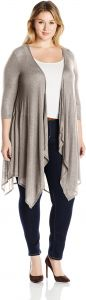 2b0bd28f525 NY Collection Women s Plus Size Long Sleeve Point Hem Cozy Cardigan