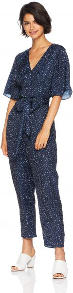 c43f4899a0c The Fifth Label Women s Rooftop V Neck Short Sleeve Polka DOT Jumpsuit