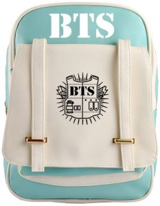 4f9edc82f3a1 Fashion BTS Korean Printed Multifunctional Casual Fashion Leather Couples  Lover Backpack Stiching Color Laptop Schoolbags Travel Backpacks