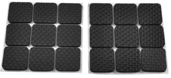 90 Pcs Adhesive Rubber Furniture Feet Floor Protector Pads Anti Skid Scratch Diy Resistant Mats Table Legs Stools Chairs Protection Souq Uae