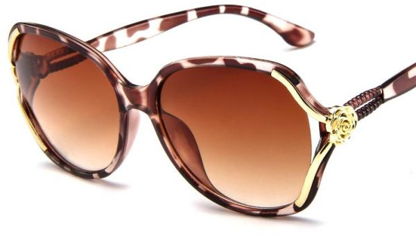 a66335d647 Y D round shape frame polarized lenses mixed material sunglasses for women  brown color