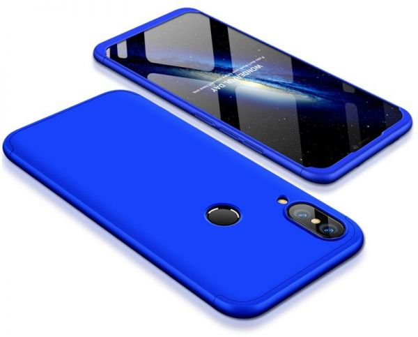 360 Degree protection Case Cover for Huawei Honor 8X- Blue